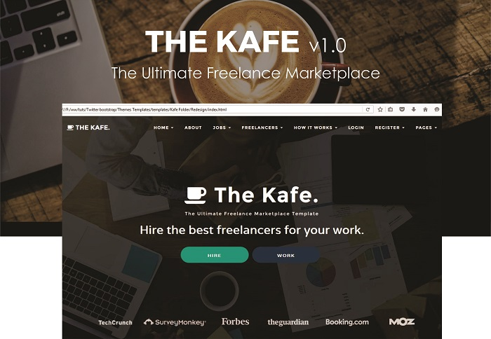 the kafe ultimate freelance marketplace template themes ocean. Black Bedroom Furniture Sets. Home Design Ideas